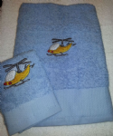 HELICOPTER PERSONALISED TOWEL SET